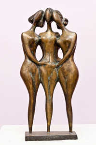 AHMEDOV Z.A. Three friends   Three friends 1999year.bronza..56x28x16cm8500 $