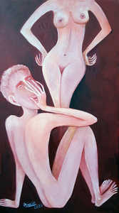 AHMEDOV Z.A. Lovers meeting  lovers meeting 2020-year.Original Painting Oil on Canvas 70x40x02 cm 8500$